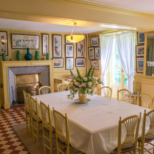 Dining room in Monet's house