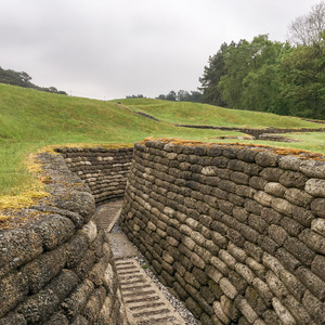 Canadian trenches at Vimy Ridge