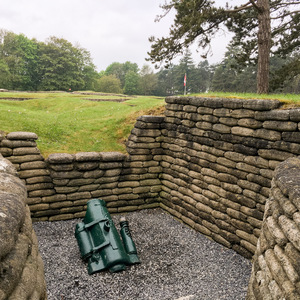 Mortar in the trenches at Vimy Ridge