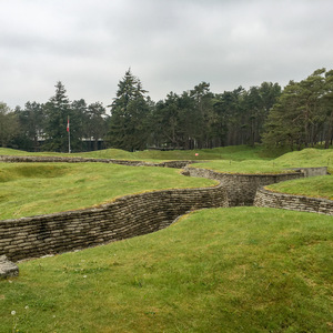 German network of trenches at Vimy Ridge
