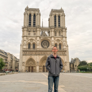 Me at Notre Dame beating the crowds