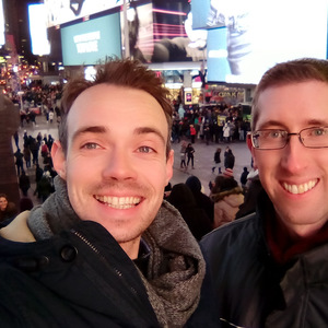 With Chris in Times Square