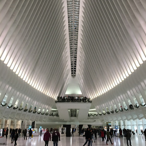 Interior of World Trade Center transportation hub