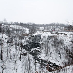 Albion Falls in winter