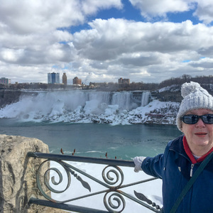 Mom at the American Falls