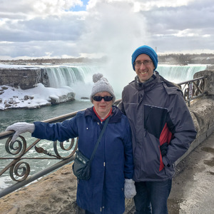 Mom and I at Horseshoe Falls