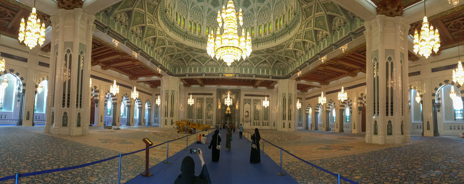 Interior of the prayer hall of the Grand Mosque