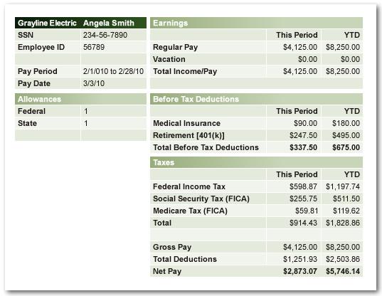 pay stub tax calculator