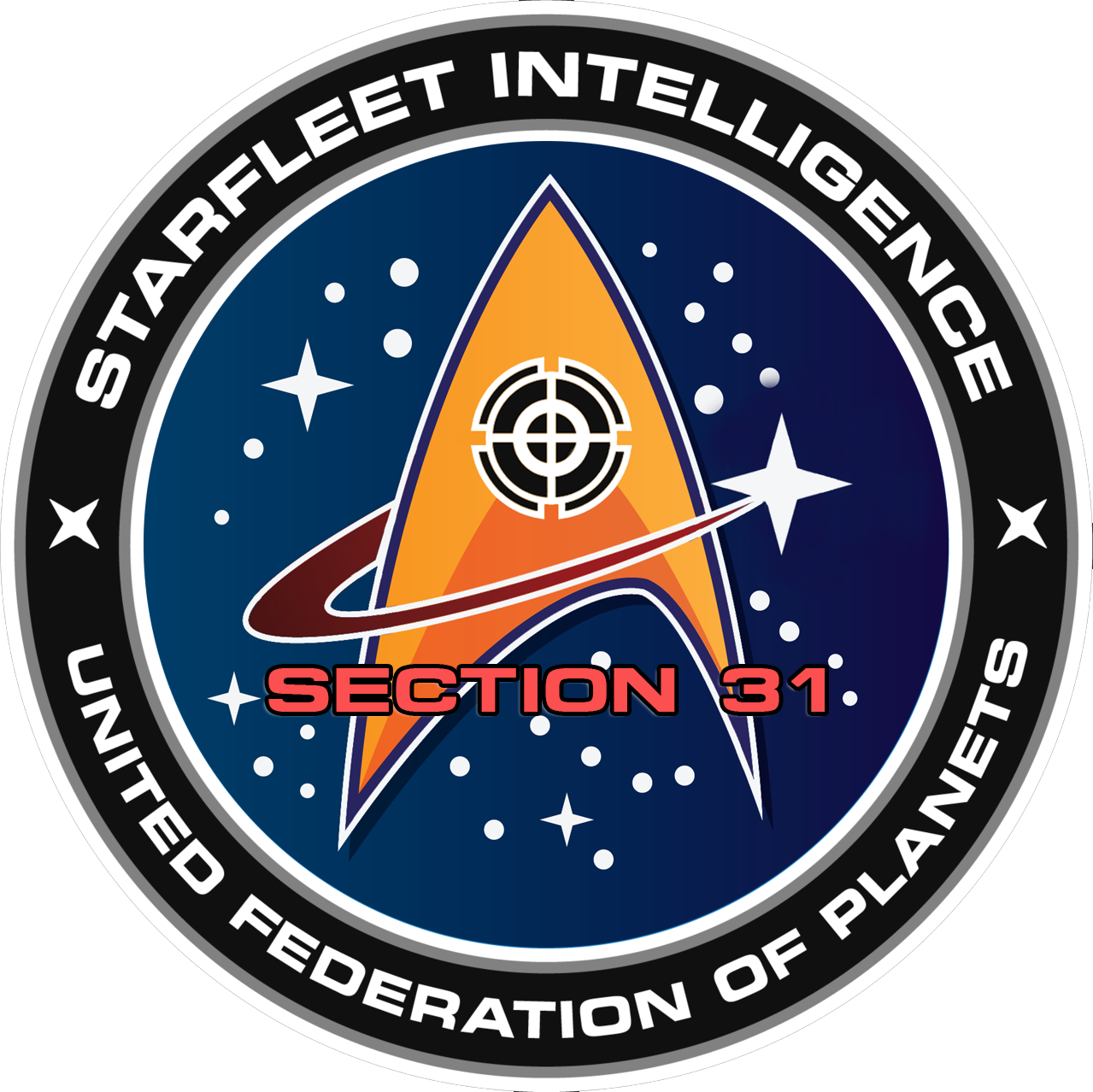 This award identifies a member as a Section 31 Agent who is an Official Moderator for the interfleet chat channel K-7