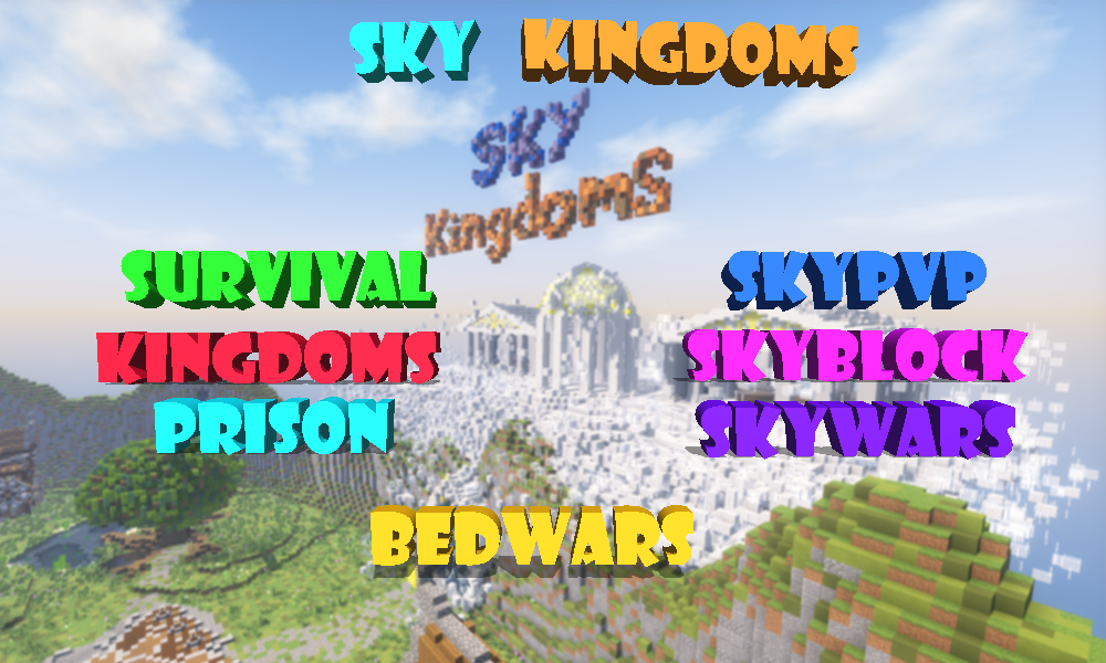 An advertisement boasting Sky Kingdoms' attractions
