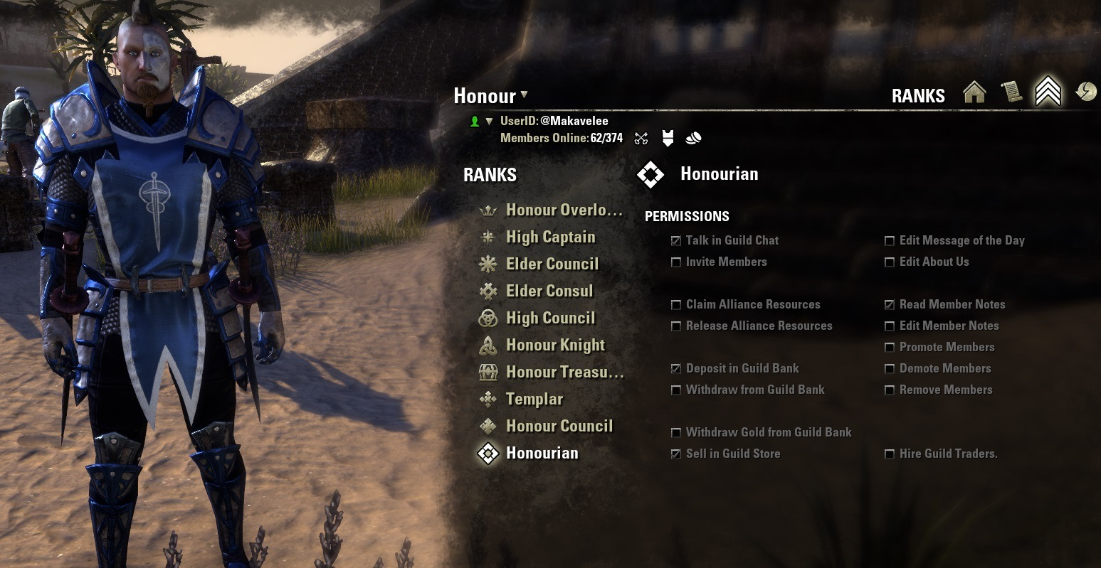 Honour Eso Ranks And Coat Of Arms
