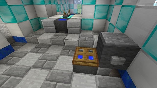 see this bathroom tutorial in the video below - Minecraft Bathroom Designs