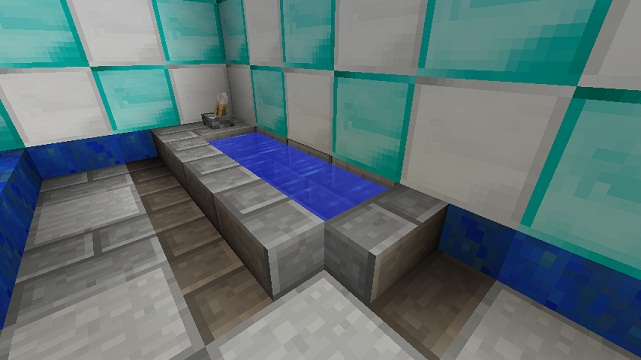 Alt. A Minecraft Shower Design.