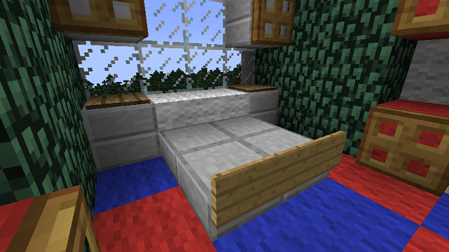 Minecraft Furniture Bedroom minecraft furniture - bedroom - a minecraft slab bed design