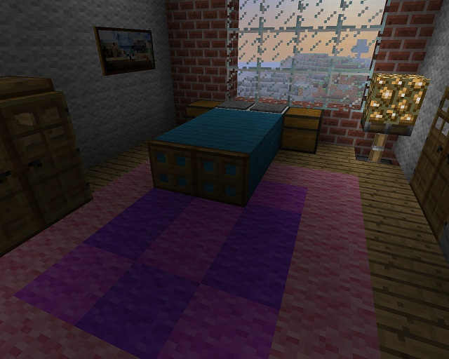 Minecraft Furniture Bedroom minecraft furniture - bedroom - wool minecraft bed