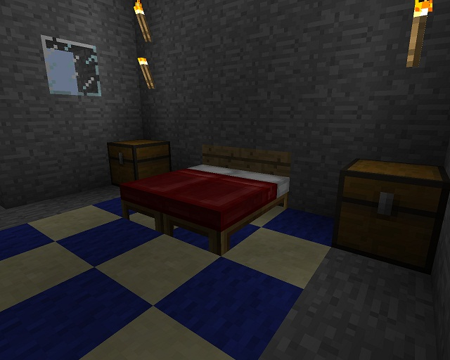 A Simple Minecraft Survival Bed