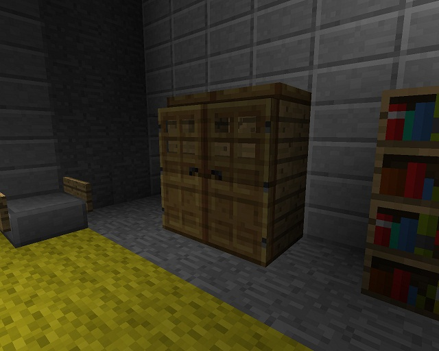 Minecraft Furniture Bedroom minecraft furniture - bedroom - a minecraft closet design