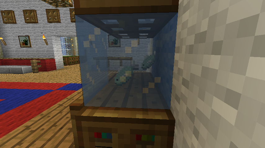 Minecraft furniture decoration for How to make ice in a fish tank