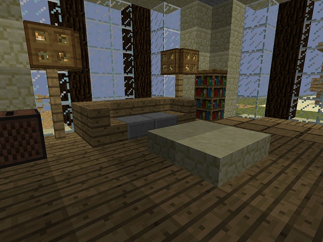 Minecraft furniture inspirations for Minecraft dining room designs