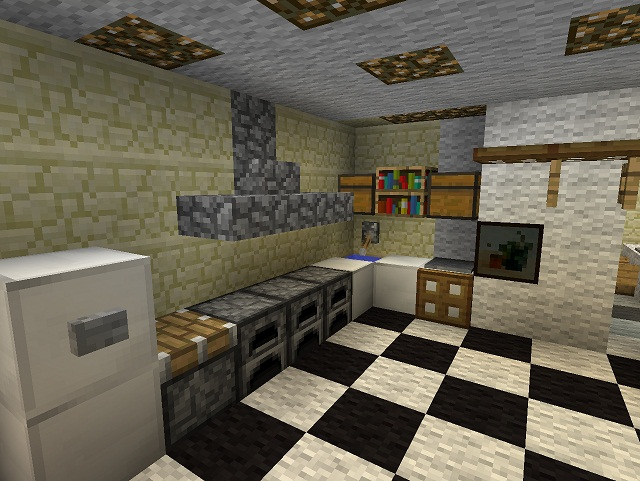 Kitchen Ideas Minecraft Pe minecraft furniture - kitchen