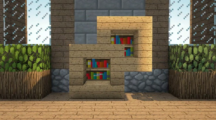 Minecraft Bookshelves - Minecraft Furniture - Storage