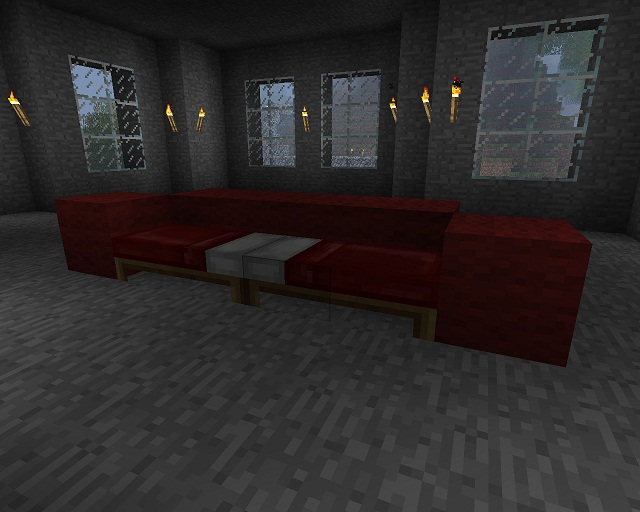 Minecraft Furniture Other Seats A Minecraft Sofa Bed