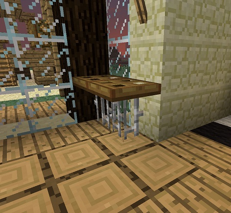 Minecraft furniture tables for Dining room designs minecraft