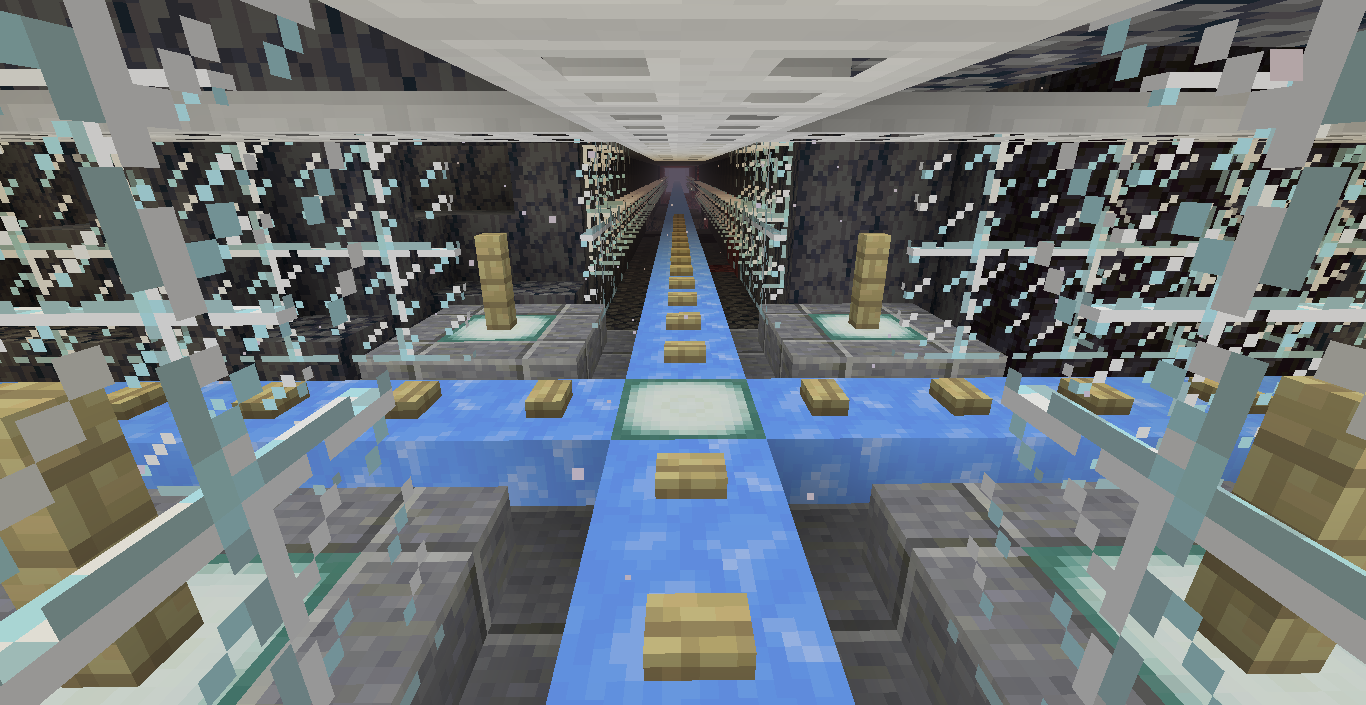 Nether Ice Highway Grid Info And Request For Help Blue ice is a block similar to packed ice , except for its darker shade of blue, and more slippery surface. nether ice highway grid info and
