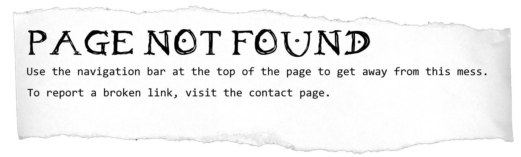 404 - Page not found!