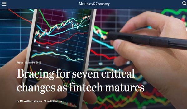 McKinsey Discusses Fintech Maturing