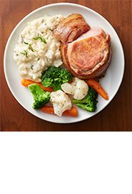 SCHWAN'S BUTCHER'S CUT™ Pork Tenderloin Filet Wrapped with Applewood Smoked Bacon