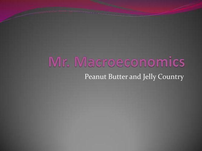Mr Macroeconomics