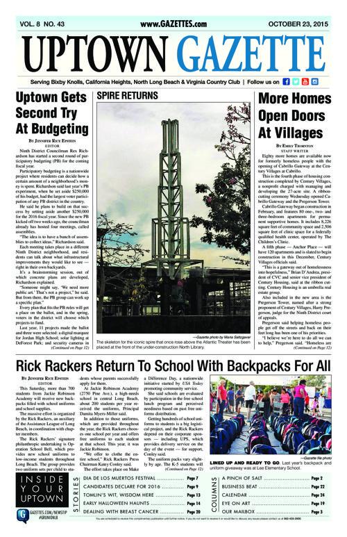 Uptown Gazette  |  October 23, 2015