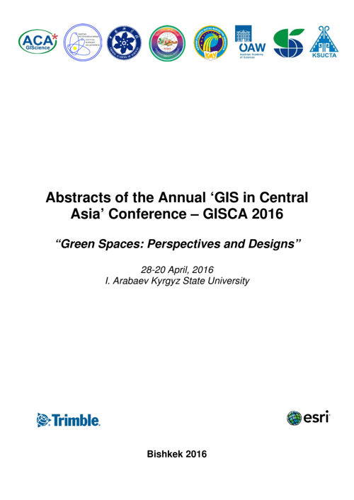 Abstracts GISCA 2016