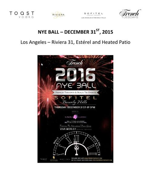 NYE BALL Toast Vodka Report