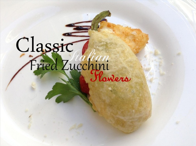 Classic Italian Fried Zucchini Flowers