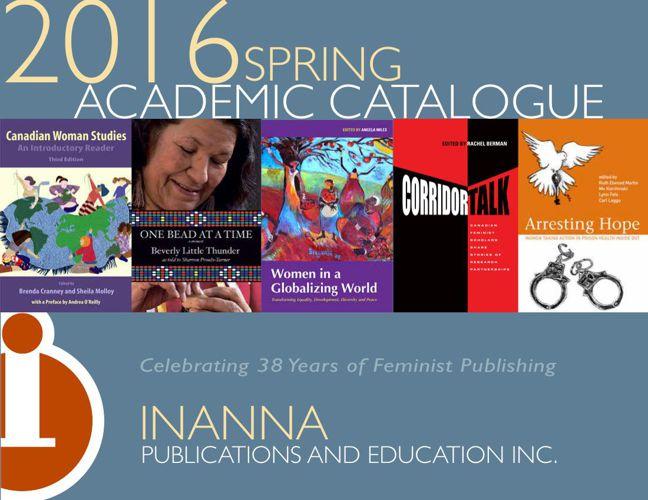 Inanna 2016 spring catalogue