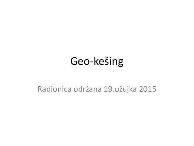 Geo kešing