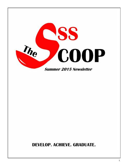 SSS Summer 2015 Newsletter