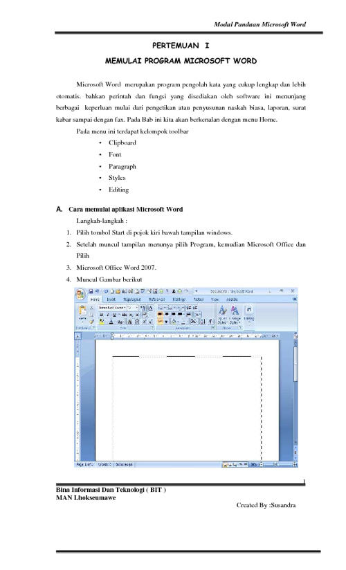 Ms. Word 2007