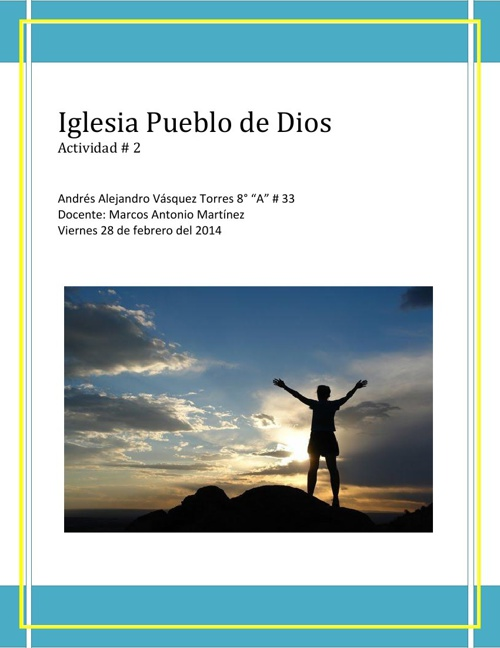 Fe actividad #2: El Pueblo de Dios