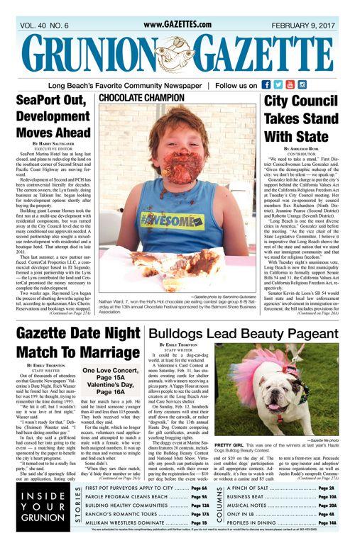Grunion Gazette     February 9, 2017