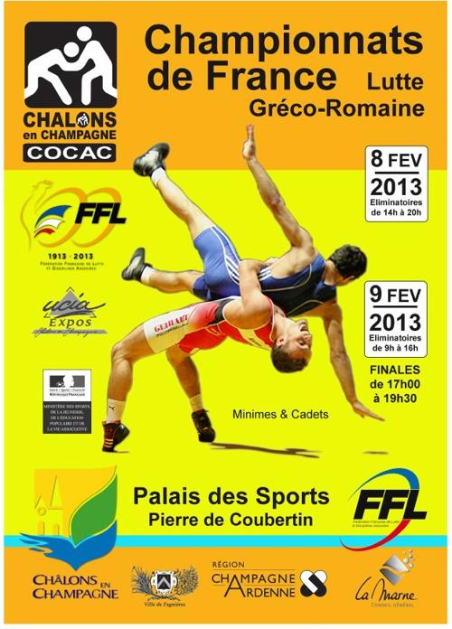 Championnats de France de Lutte 8 et 9 février 2013