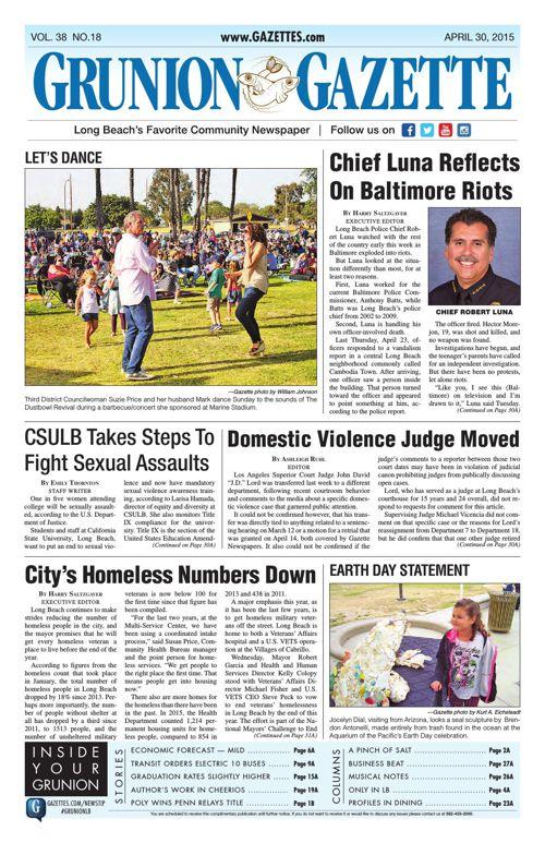 Grunion Gazette | April 30, 2015