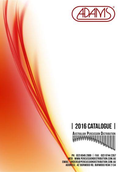 2016 Adams Catalogue