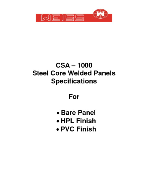 Steel Core Specification