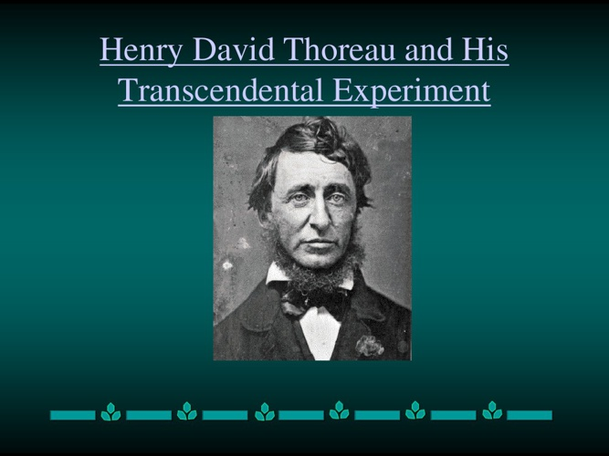 American Lit:Thoreau and Emerson SDHS