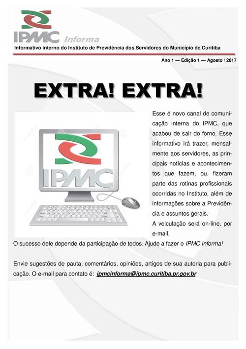 Informativo IPMC 1° edição