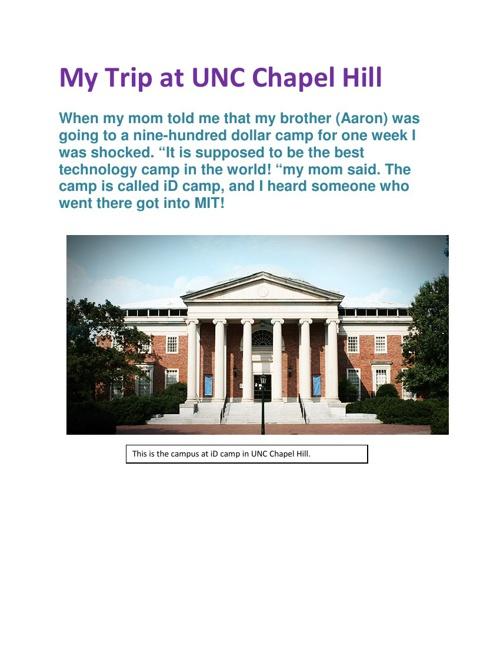 My Trip At UNC Chapel Hill
