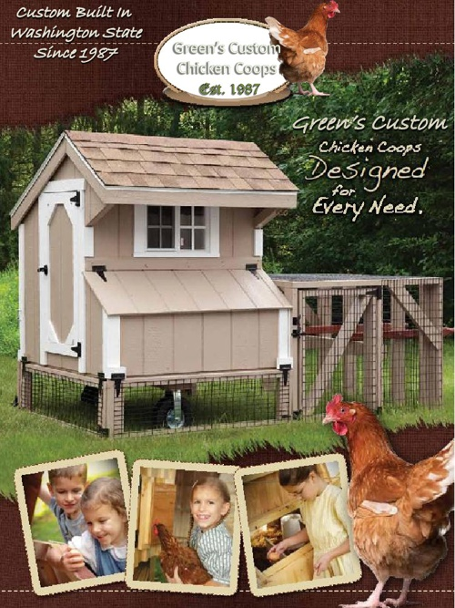 Green's Custom Chicken Coops Catalog